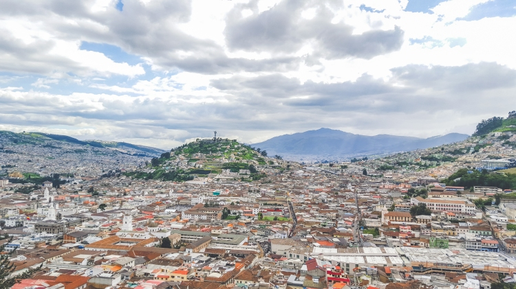 Beautiful view from the Panecillo in Quito, Ecuador